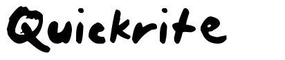 Quickrite шрифт