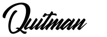 Quitman font