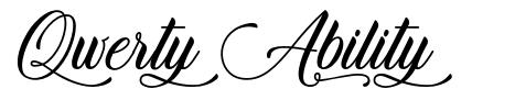 Qwerty Ability font