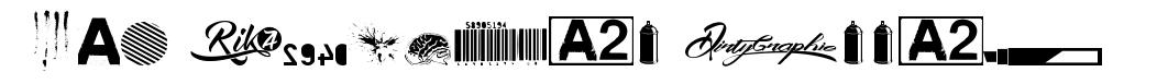 R74 Dingbat Attak font