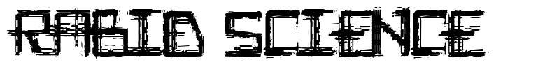 Rabid Science font
