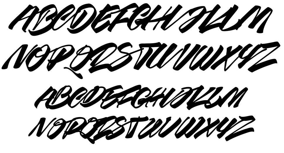 Race Fever Brush font