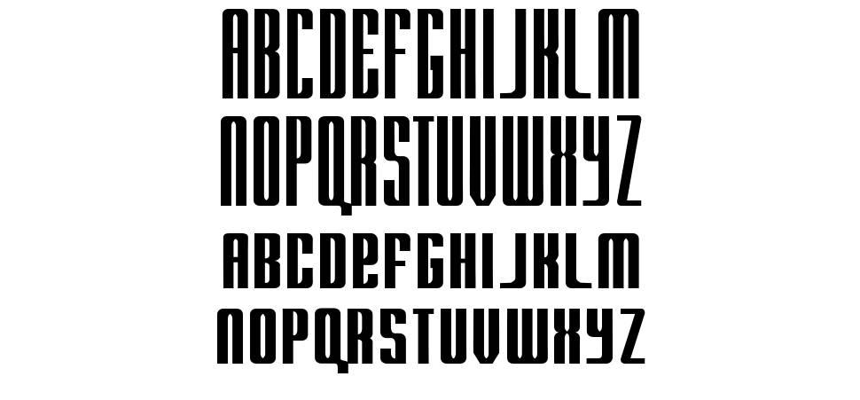 Radar font