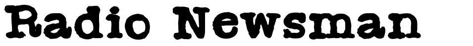 Radio Newsman font