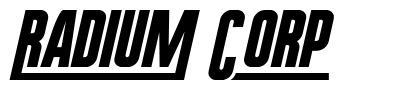 Radium Corp font