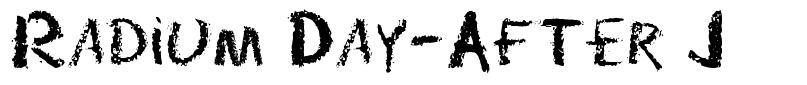 Radium Day-After J font