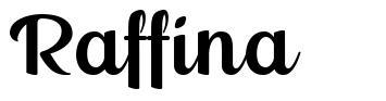 Raffina font