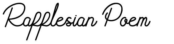 Rafflesian Poem