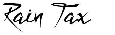 Rain Tax font