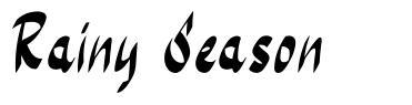 Rainy Season font
