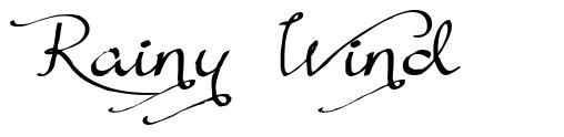 Rainy Wind font
