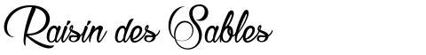 Raisin des Sables