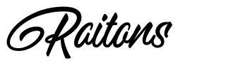 Raitons 字形