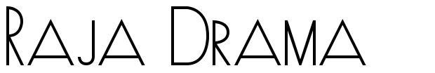 Raja Drama шрифт