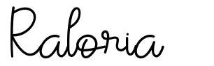Raloria font
