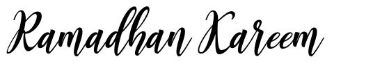 Ramadhan Kareem font