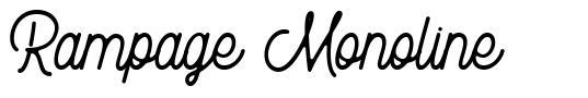 Rampage Monoline font