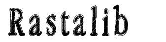 Rastalib font