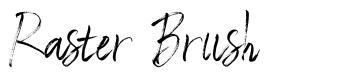 Raster Brush font