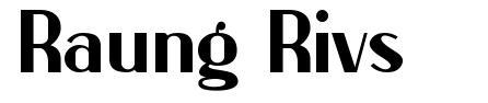 Raung Rivs písmo