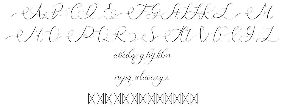 Raysha Moonly font