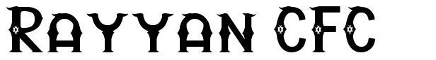 Rayyan CFC font