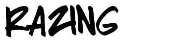 Razing font