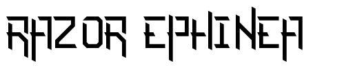 Razor Ephinea шрифт
