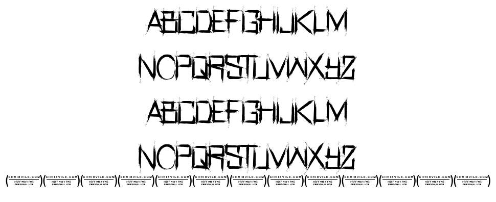 Real Horror font
