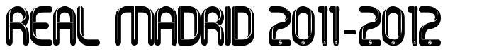 Real Madrid 2011-2012 字形