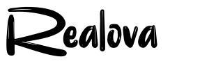 Realova 字形