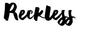 Reckless font