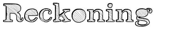Reckoning font