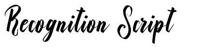 Recognition Script font