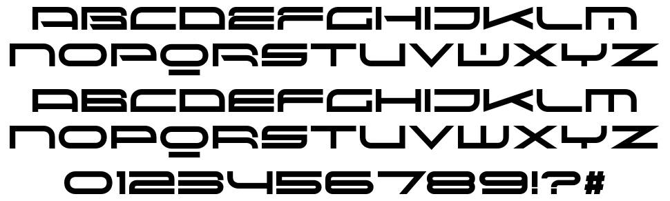 Red Seven font