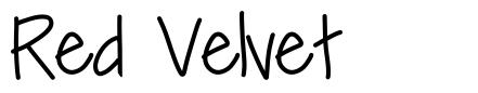 Red Velvet  font