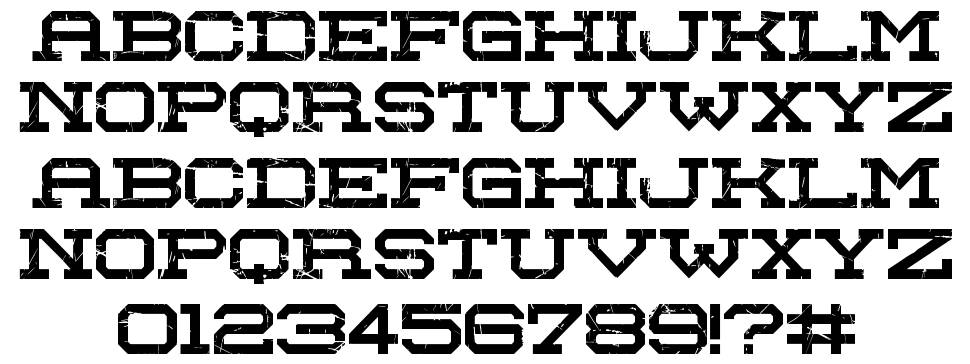 Red Zone font