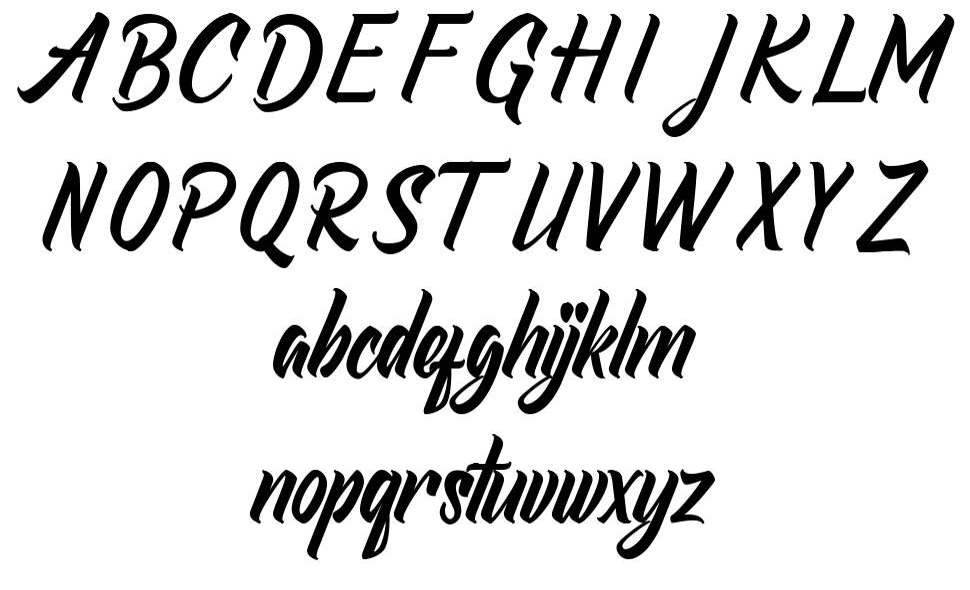 Redlineryh フォント