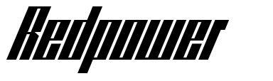 Redpower font