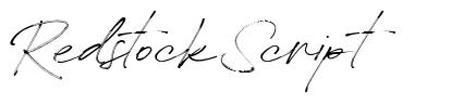 Redstock Script font