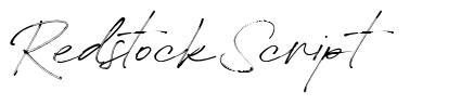 Redstock Script フォント