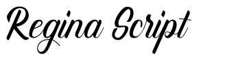 Regina Script font