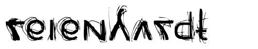 Reienhardt шрифт