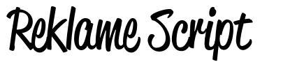 Reklame Script font