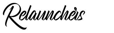 Relaunchers font