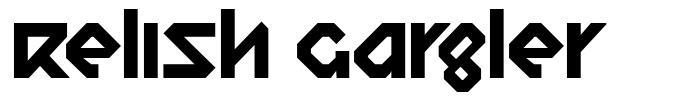 Relish Gargler font