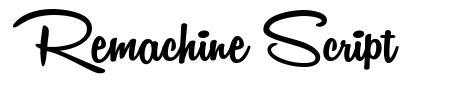 Remachine Script 字形