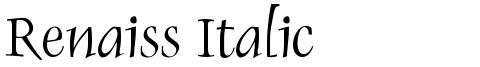 Renaiss Italic
