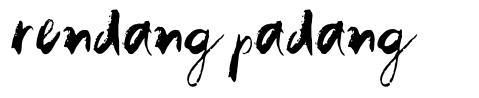 Rendang Padang font