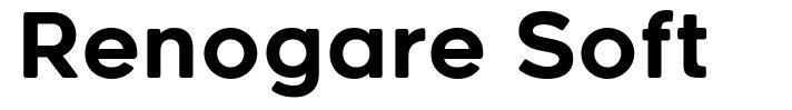 Renogare Soft шрифт